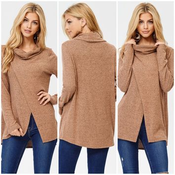 Haute Off the Blog Tunic in Camel