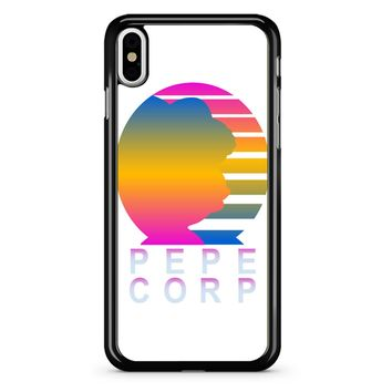 Pepe Aesthetic Pepe Corp White iPhone X Case