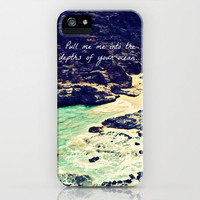 Pull Me Into Your Depths iPhone Case by Tara Yarte  | Society6