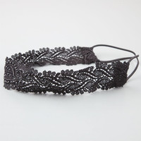 Full Tilt Crochet Headband Black One Size For Women 24810710001