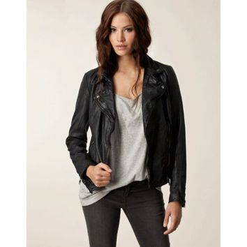 Muubaa Monteria Black Leather Biker Jacket RRP £395