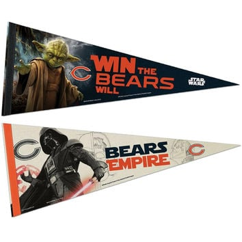 Chicago Bears NFL Star Wars Dark Side-Light Side Premium Pennant 2pc Set (12in. x 30in.)