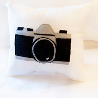 Vintage Pentax Camera Pillow - Penny the Pentax Pillow - A very Geek / Nerd Decor Item for the Photographer in us All -