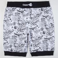 Trukfit Scribble Sweat Shorts White  In Sizes