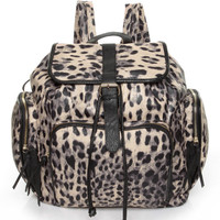 Animal Print Backpack - Leopard Print Backpack