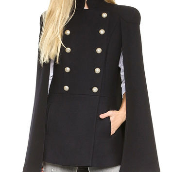 Double Breasted Scarf Vest Coat Jacket [6407768068]