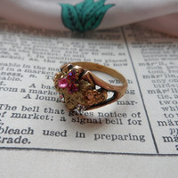 Vintage Ring, Adorable, Steampunk, Vintage, Victorian, Shabby Chic V50