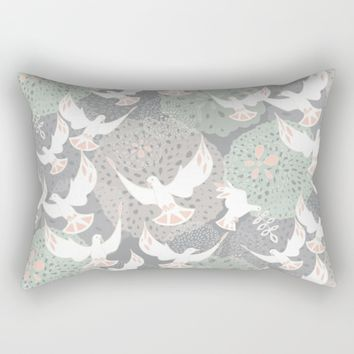 doves and flowers Rectangular Pillow by Sharon Turner   Society6