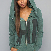 Karmaloop.com - Global Concrete Culture - The Hi Superflous Zip Hoody in Forest by Rebel Yell