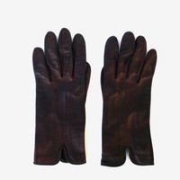 Winter gloves brown leather gloves soft leather gloves genuine leather gloves soviet leather gloves womans leather gloves Christmas gift