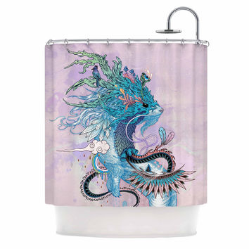 "Mat Miller ""Journeying Spirit (Ermine)"" Magenta Fantasy Shower Curtain"