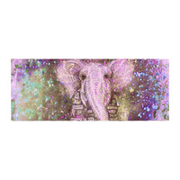 "Marianna Tankelevich ""Pink Dust Magic"" Elephant Sparkle Bed Runner"