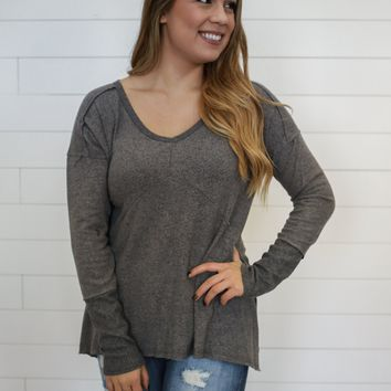 Casual Days Top - Charcoal