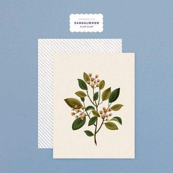 Botanical Sandalwood Scented Card