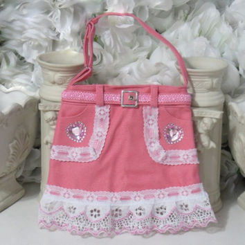 Childrens Purse - Kids Bag - Girls Purse - Toddler Gifts - Gifts For Kid - Girls Birthday Gifts - Heart Gifts - Denim Accessories - Gifts