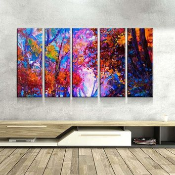 Autumn Oil Painting Canvas Set