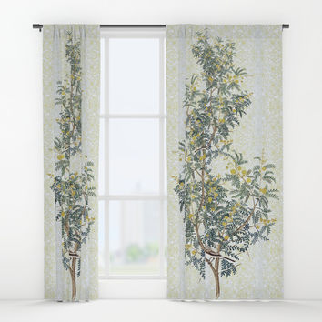 A bird in the bush Window Curtains by anipani