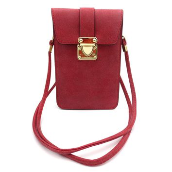 Leather Large Screen Fashion Leisure Phone Purse Small Shoulder Messenger Bag Cellphone Pouch Wallet Case for iPhone 7 7Plus 6 6S Plus 5S 4 Samsung Galaxy S5/S4/S3/S2