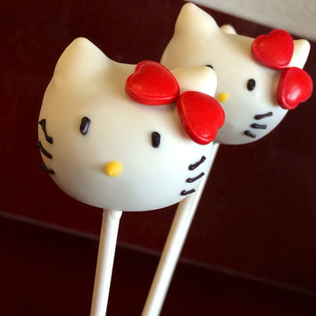 Hello Kitty Cake Pops, Hello Kitty Party Favors, Cake Pops