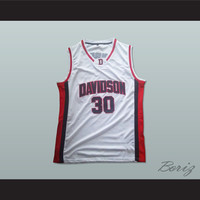 Stephen Curry 30 Davidson Wildcats White Basketball Jersey