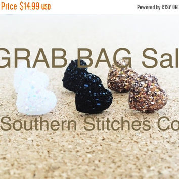 Back To School Sale Memorial Day Sale Grab Bag - Earrings - Bracelets - Ring - Druzy - Dome - Mystery Bag