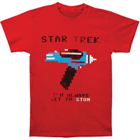 Star Trek Men's  Star Trek I'm Always Set T-shirt Red Rockabilia