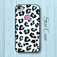 iPhone 4/ 4s and 5 Case - Cell Phone Cover - iPhone Hard Case - Blue Leopard Girly Cute Funny Humor Christmas Gift For Her