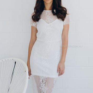isabella lace dress - ivory