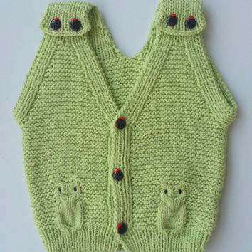 baby vest, knit baby dress, baby dress, knitted baby vest, baby clothes, baby shower gift, hand knit baby vest, baby sweater, knit baby vest