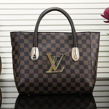 LV Louis Vuitton Women Shopping Bag Leather Shoulder Bag Satchel Crossbody