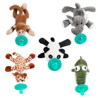 Baby Animal Pacifier With Soft Plush Toy