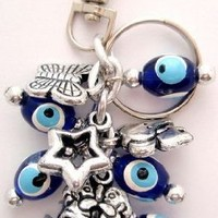 Evil Eye Key Chain with Charms