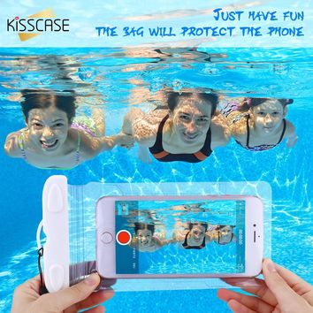 KISSCASE Waterproof Phone Case For iPhone 6 6S 7 Plus Cases PVC+ABS Full Protect Cover Case For iPhone 6 7 6S 5 5S SE Samsung S7