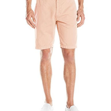 7 For All Mankind Men's 10-Inch Cotton Linen Chino Shorts - Desert Rose, 30W