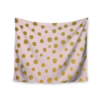 "Nika Martinez ""Golden Dots & Pink"" Blush Wall Tapestry"