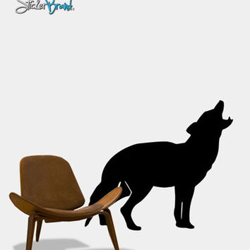 Vinyl Wall Decal Sticker Howling Wolf #202