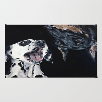 Contrasting Dogs Rug by Yuval Ozery