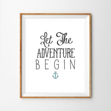 Let The Adventure Begin Hand Lettered Print