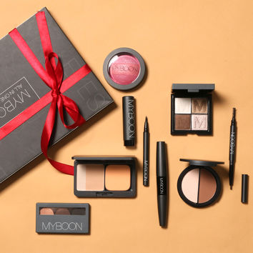 MYBOON 9 Pieces Makeup Kit All in One Makeup Kit for Gift Personal Use Prefessional makeup set