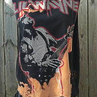 Lil Wayne size guy's medium, distressed , concert tee, band shirt bleached