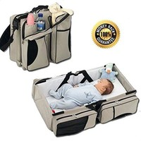 3 in 1 Baby Moving bed -Diaper Bag-Travel Bassinet-Change Station-Multi-purpose Baby Diaper Tote Bag Bed