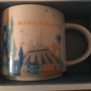 disney starbucks you are here magic kingdom coffee mug new with box