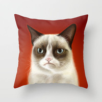 Grumpy Cat Pillow Tardar Sauce Tard