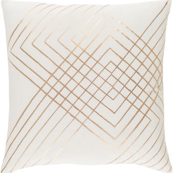 Surya Crescent Throw Pillow Neutral, Brown