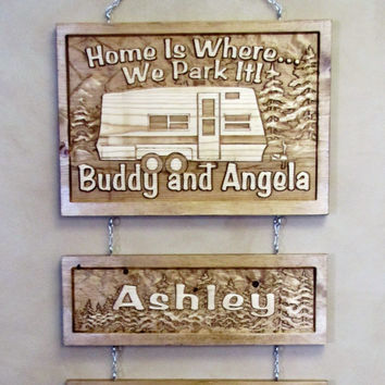 Personalized Family Childs Name Custom Camp Camper Sign Plaque