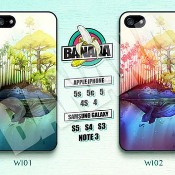 Whale Island, Tree, Disney, iPhone 5 case, iPhone 5S case, iPhone 5c case, Phone case, iPhone 4 Case, iPhone 4S Case, Phone Skin, WI01