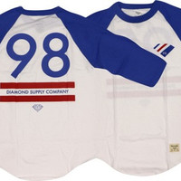 Diamond 98 Supply Raglan 3/4 Sleeve Medium Royal/White