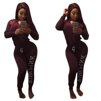 New Vs Pink Tracksuits Women Hoodies Set Love Pink Letter Print Casual Hip Hop Sportswear Suit Costumes Sweatshirt+Pants P06 Z20