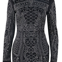 Chili Black Studded Mini Dress