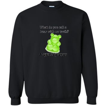 Joke T-Shirt Funny Parody Gummy Bear Prank unisex-child Kids Printed Crewneck Pullover Sweatshirt